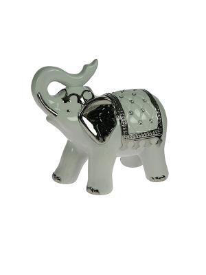 Статуэтка Слон Русские подарки. Цвет: черный, белый
