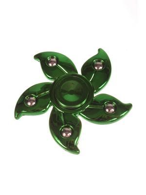 Спиннер металлик улучшенный с лепестками и шариками-утяжелителями, зеленый Радужки. Цвет: зеленый
