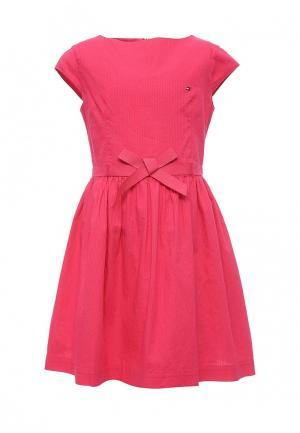 Платье Tommy Hilfiger. Цвет: фуксия
