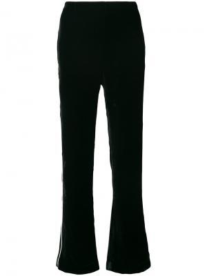 Строгие брюки с полосками Ermanno Scervino. Цвет: чёрный