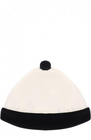Шапка с помпоном Aletta. Цвет: белый