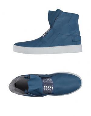 Высокие кеды и кроссовки LEA FOSCATI. Цвет: пастельно-синий
