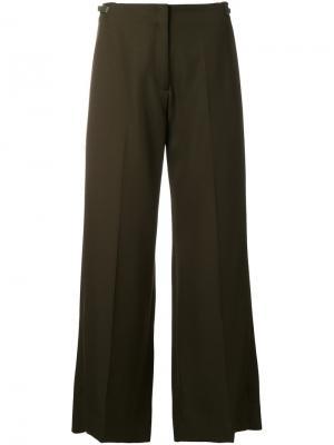 Укороченные широкие брюки Maison Margiela. Цвет: зелёный