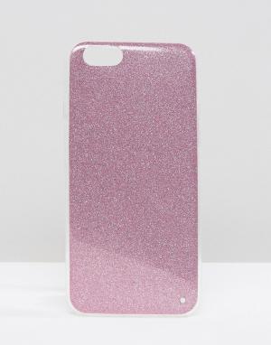 SIGNATURE Чехол с блестками для iPhone 6. Цвет: фиолетовый