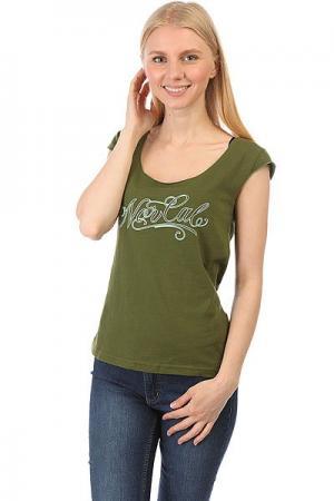 Майка женская  Por Vida Cap Sleeve Olive Nor Cal. Цвет: зеленый