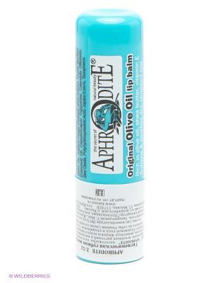 Защитный бальзам для губ оригинальный, без запаха Aphrodite. Цвет: голубой
