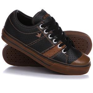 Кеды кроссовки низкие  Deuce Black/Brown/Gum Dekline. Цвет: черный,коричневый