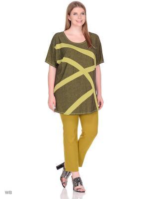 Блузка МариЧи. Цвет: зеленый