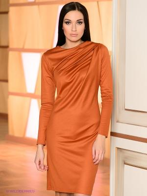 Платье Lussotico. Цвет: терракотовый
