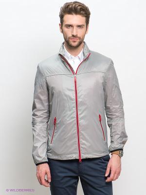 Куртка GEOX. Цвет: серый, красный