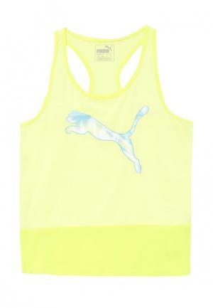 Майка спортивная Puma. Цвет: желтый