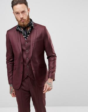 Devils Advocate Облегающий пиджак. Цвет: красный