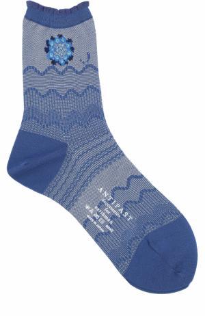 Хлопковые носки с принтом Antipast. Цвет: синий