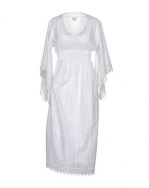 Платье длиной 3/4 TALITHA. Цвет: белый