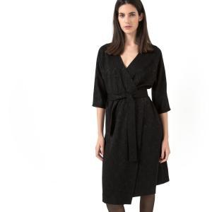 Платье, Laura Clément La Redoute Collections. Цвет: красный
