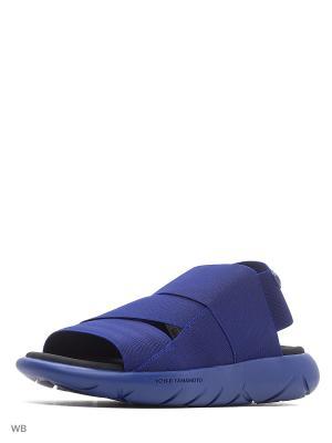 Сандалии муж. Y-3 QASA SANDAL Adidas. Цвет: темно-синий, фиолетовый