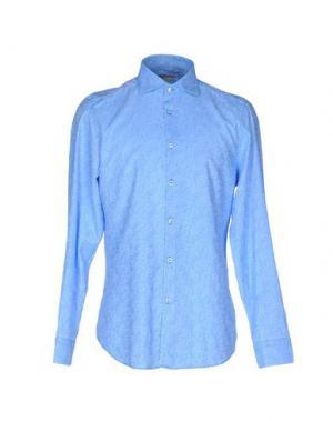 Pубашка MICHAEL COAL. Цвет: небесно-голубой