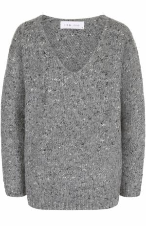 Пуловер из смеси шерсти и шелка с V-образным вырезом Iro. Цвет: серый