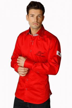 Рубашка GAZOIL. Цвет: red