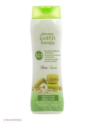 Шампунь, гель для душа, пена ванны Фисташковый крем Парижские сладости 3в1 Bath Therapy. Цвет: белый