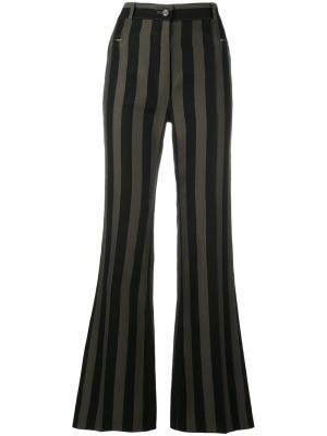 Расклешенные брюки в полоску Nina Ricci. Цвет: чёрный