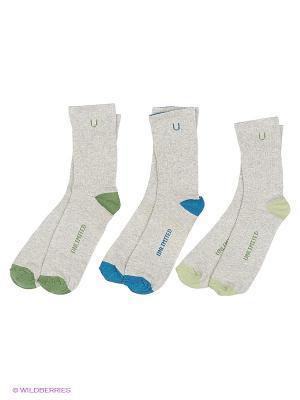 Носки спортивные 3 пары Unlimited. Цвет: серый меланж, зеленый, хаки, оливковый