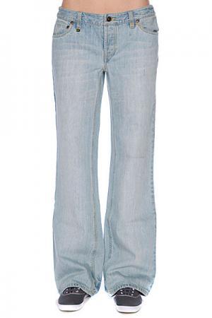 Джинсы широкие женские  Perfect Ten Vintage Wach Zoo York. Цвет: голубой