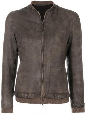 Slim fit bomber jacket Salvatore Santoro. Цвет: коричневый