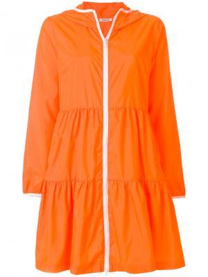 Плащ с капюшоном на молнии P.A.R.O.S.H.. Цвет: жёлтый и оранжевый