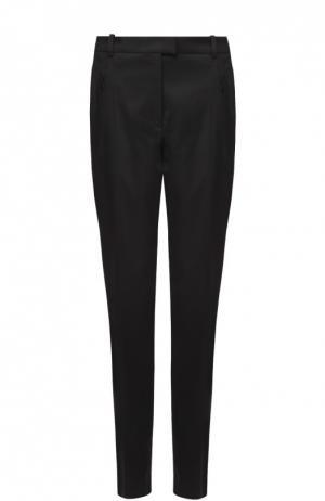 Укороченные брюки прямого кроя с карманами BOSS. Цвет: черный