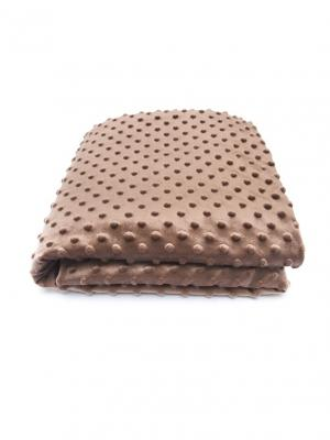 Плед Горошек Сонный гномик. Цвет: коричневый