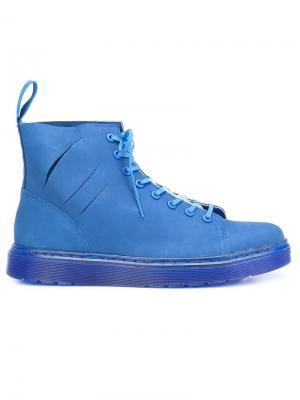 Ботинки на шнуровке Off White x Dr. Martens. Цвет: синий