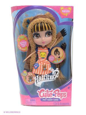 Набор Кьюти Попс Фэшн Кукла Дакота с аксессуарами Jada. Цвет: коричневый, бежевый