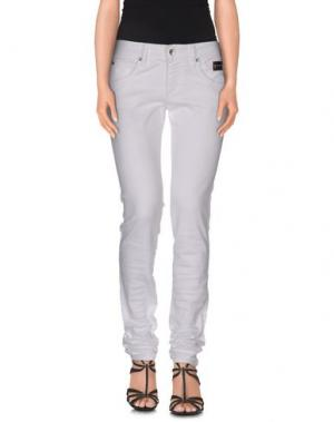 Джинсовые брюки NICHOL JUDD. Цвет: белый