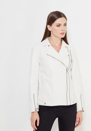 Куртка кожаная Sisley. Цвет: белый