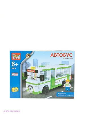 Конструктор Автобус Город мастеров. Цвет: синий, зеленый, белый