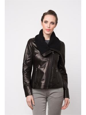 Кожаная куртка - косуха MONDIAL. Цвет: черный
