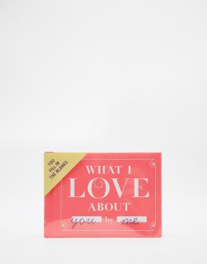 Books Книга What I Love About You. Цвет: мульти