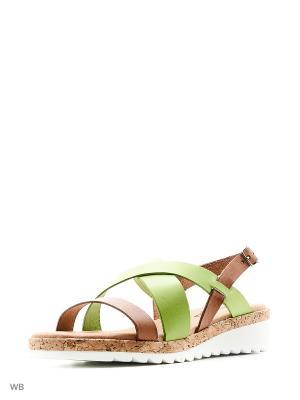 Сандалии Goergo. Цвет: зеленый, коричневый