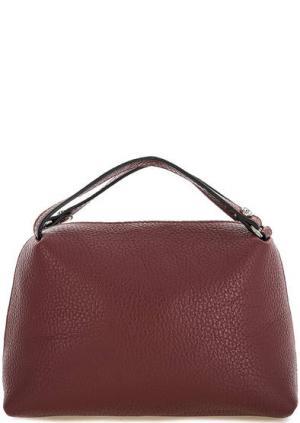 Маленькая бордовая сумка из натуральной кожи Gianni Chiarini. Цвет: бордовый