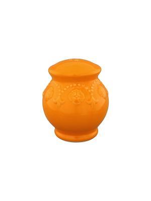 Солонка Оранжевая с узором Elan Gallery. Цвет: оранжевый