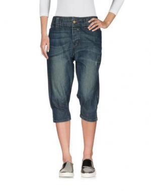 Джинсовые брюки-капри LEE. Цвет: синий