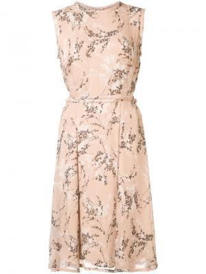 Платье с цветочным рисунком Jason Wu. Цвет: телесный