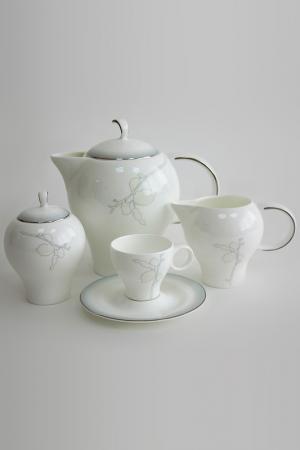Сервиз чайный на 6 персон Tognana. Цвет: белый