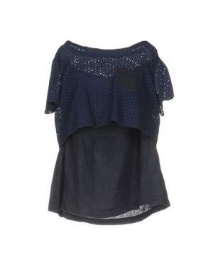 Блузка CLUB VOLTAIRE. Цвет: темно-синий