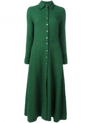 Платье-рубашка в ломаную клетку Ultràchic. Цвет: зелёный