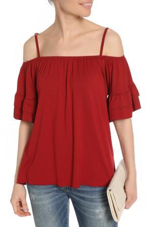 Блуза BE…TWEEN. Цвет: бордовый