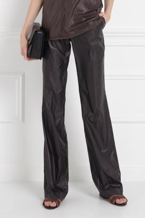 Однотонные брюки Maurizio Pecoraro. Цвет: черный