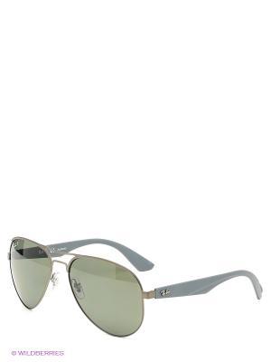 Очки солнцезащитные Ray Ban. Цвет: серый, зеленый