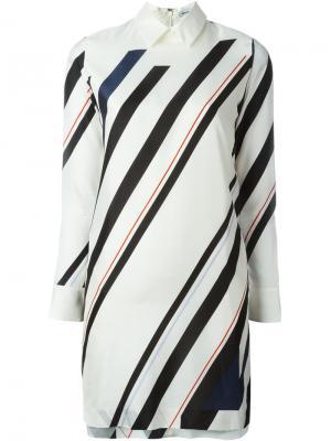 Платье-рубашка в полоску 08Sircus. Цвет: белый